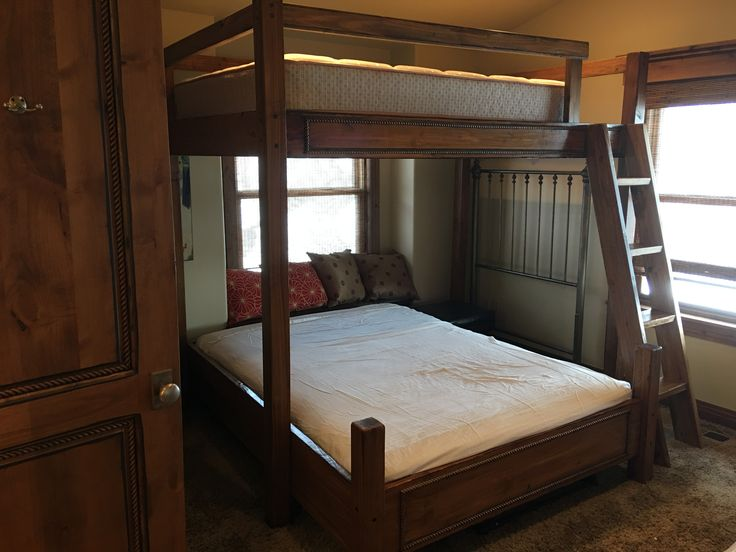 Custom Bunk Beds Romans Rope Full Or Twin Over Queen Bunk