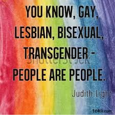 YESS PEOPLE NEED TO STOP TREATING LGBT PEOPLE LIKE THEY ARE NOT. IM STRAIGHT MYSELF BUT I FULLY SUPPORT GAYS AND GAY RIGHTS AND ALL THAT BECAUSE WE ARE ALL EQUAL.!