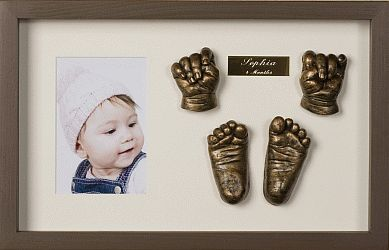 Baby hand and feet sculptures