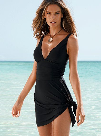 Firm Control Convertible Dress One-piece. Dress transformed to bathing suit. Genious, Victorias Secret :)