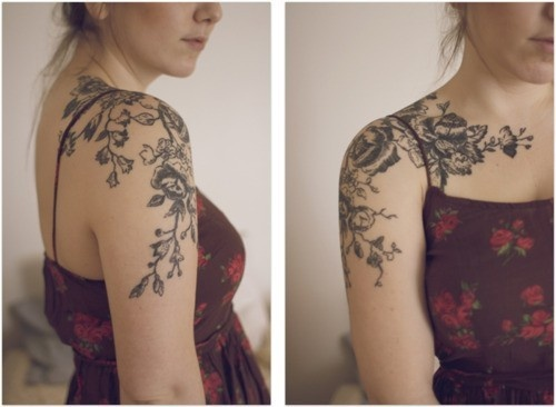 I really want something like this, but on both arms, with something in the middle of my chest