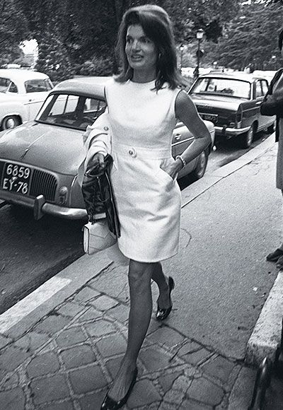 Jackie O style. Little white dress