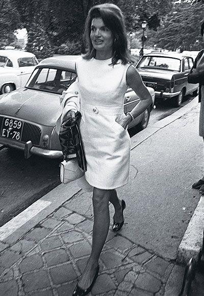 Jackie O style. Little white dress