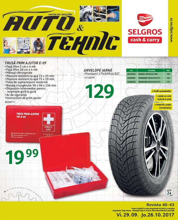 Catalog Selgros Auto 29 Septembrie - 26 Octombrie 2017! Oferte si recomandari: trusa prim ajutor E-09 (Fasa tifon 5 cm x 4 mb + Fasa tifon 10 cm x 4 mb