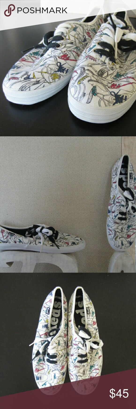 Keds Tennis Shoe with Cool Shoe Print KEDS /// SIZE: 7 /// LOOK AT THIS SHOE. IT'S AWESOME. /// CONDITION: BRAND NEW Keds Shoes Sneakers