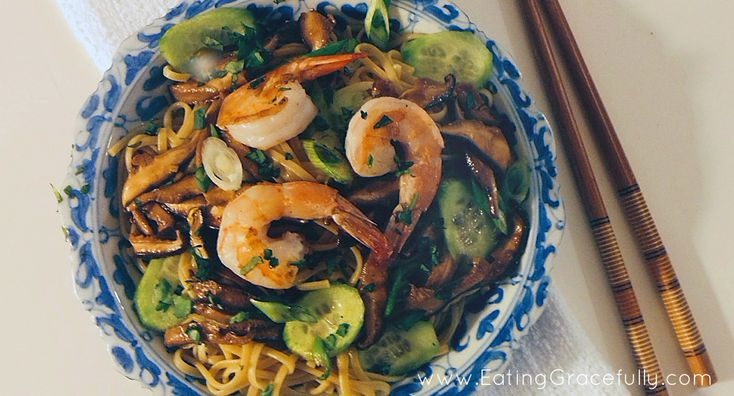 GLUTEN-FREE PUMPKIN, GINGER AND BROWN RICE NOODLES WITH SHRIMP AND ...