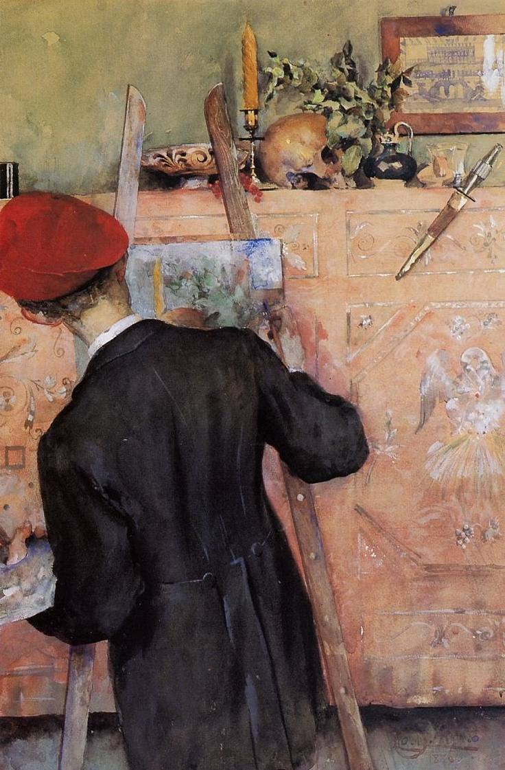 Carl Larsson, The Still Life Painter, 1896