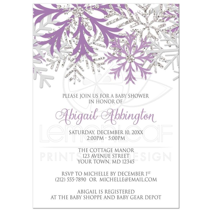 Best 25 Snowflake invitations ideas – Winter Party Invitation