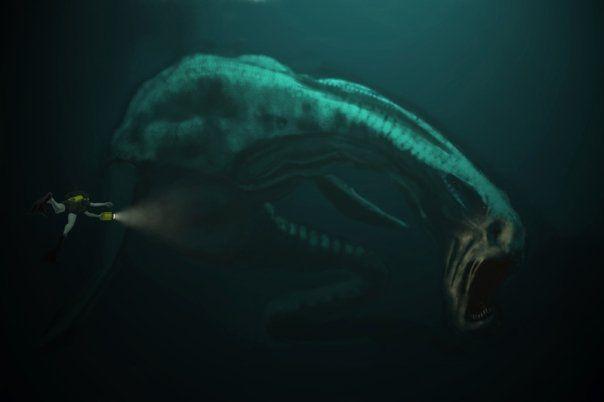 Giant sea monsters art - photo#43