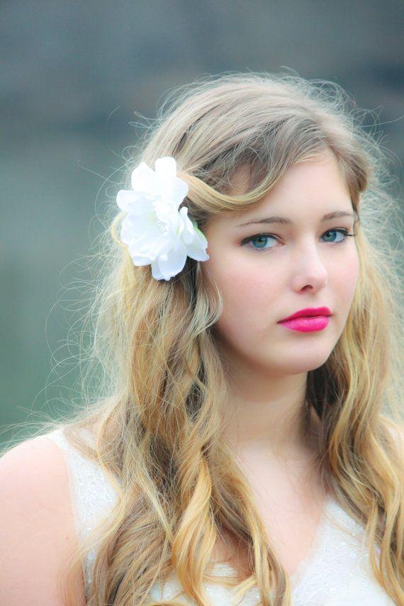 Bridal hair clip for Wedding, flower hair clips, bridal hair flower, fascinator $30.00 Etsy