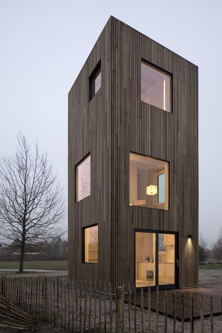 Superschlank in Holz – Ein Minihaus-Prototyp von Ana Rocha in Almere