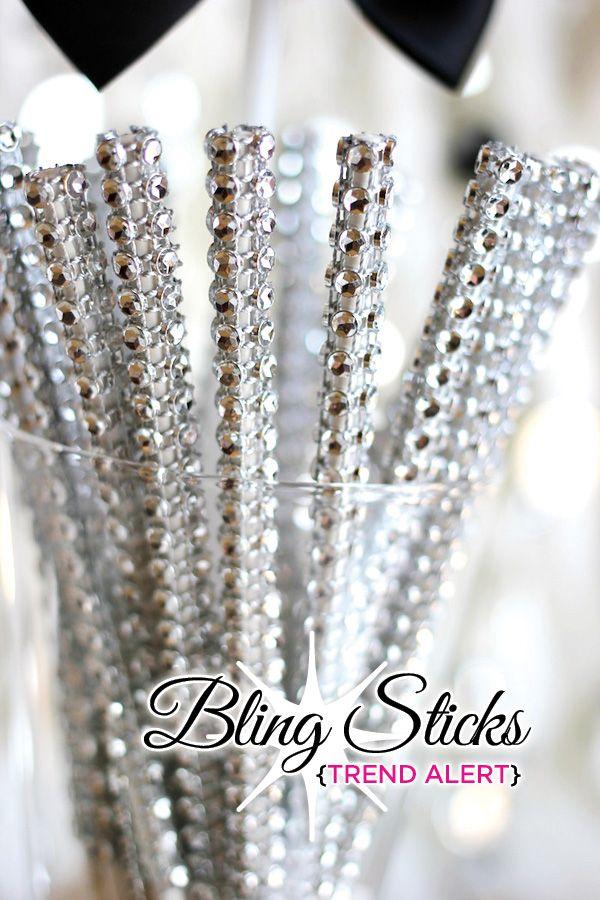Maybe make your own from lolipop sticks & rhinestone ribbon?  http://moodstruck.com/mesh-ribbon.html