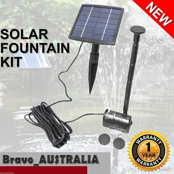 new solar powered outdoor garden fountain pond pool water feature pump kit black - Solar Powered Fountain