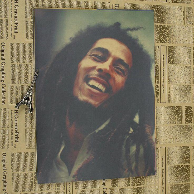 60 СМ-4 шт. # ТОП ПРОХЛАДНЫЙ урожай ретро плакат постер # Боб Марли, The Wailers, регги, певец и Автор Песен, гитара ПЛАКАТ