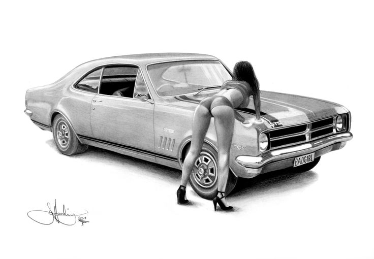 Bad Girl Monaro Drawing By Whizziewhizzer Deviantart Com On