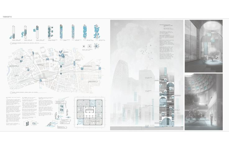 """"""" WAYFINDING AND COLLECTION """" - Tokyo Vertical Cemetery competition finalist"""