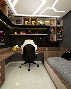 Neon Bedroom, Home Bedroom, Modern Bedroom, Bedroom Ideas, Hotel Bedroom Design, Small Home Offices, Led Stripes, Gaming Room Setup, Game Room Design