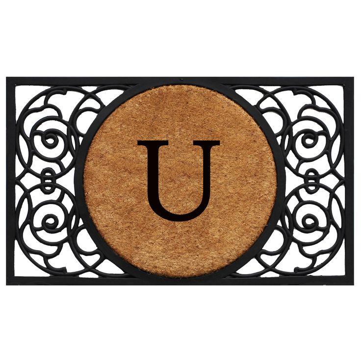 Circle Monogram Doormat