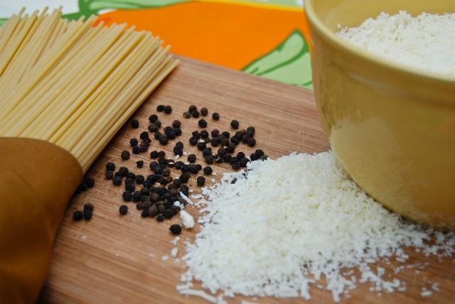 Getting ready to make cacio e pepe - a classic Roman pasta.  http://duespaghetti.com/2012/04/22/cacio-e-pepe-happy-birthday-roma/