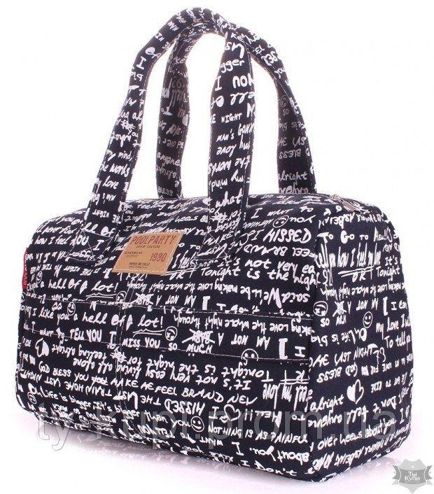 Женская сумка Poolparty (sidewalk) с надписями - Интернет-магазин сумок и аксессуаров в Киеве