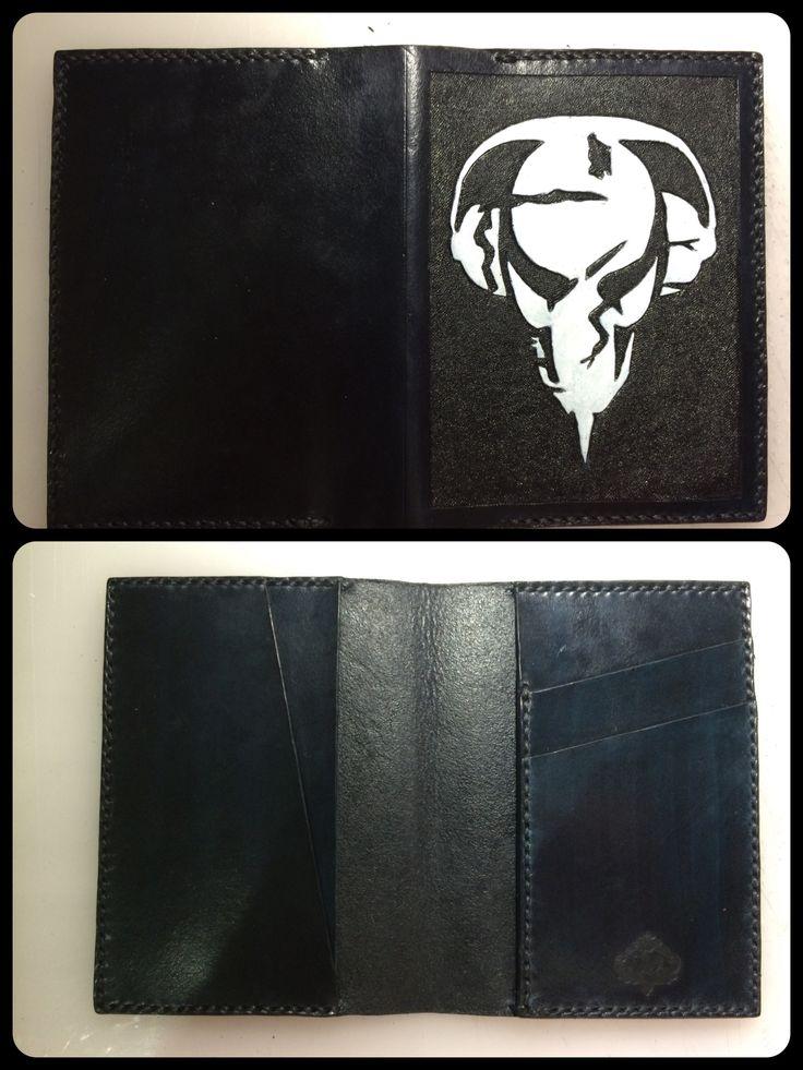 "Обложка на паспорт ""Пиратская станция"" Cover on the passport ""Pirate Station"" Leather, handmade"