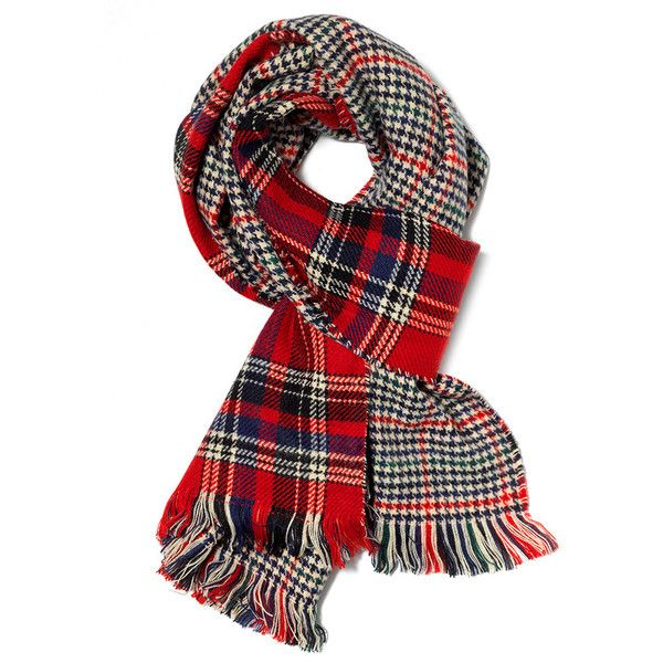 Reversible Red Multi Check Scarf Wrap ($61) ❤ liked on Polyvore featuring accessories, scarves, checkered scarves, wrap scarves, wrap shawl, red shawl and red scarves