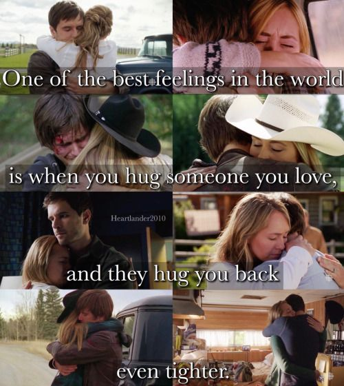 "callmebethany2010: "" Heartland - Tamy ""One of the best feelings in the world is when you hug someone you love, and they hug you back even tighter."" """