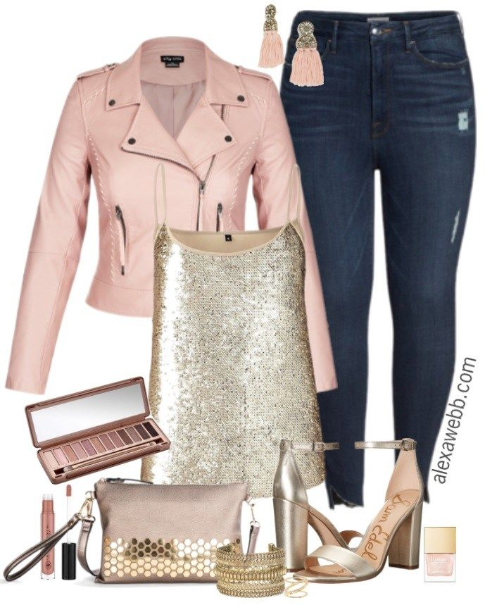 Plus Size Blush Bikerjacke Outfit + Werbegeschenk