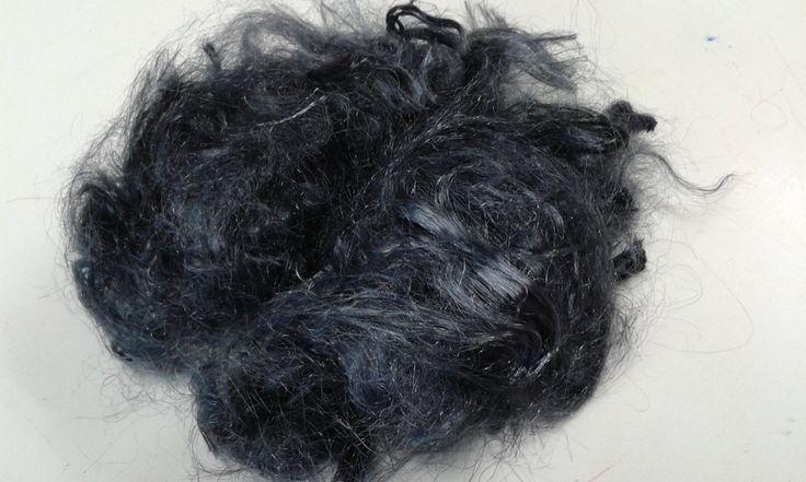 Firestar fibre hand dyed Charcoal 20 grams .70 oz spinning felting needle felting 11222 by feltfibrecraft on Etsy