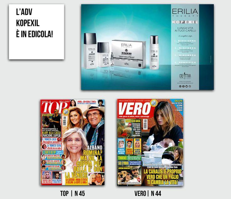 #KOPEXIL  | scopri la nostra #pubblicità in edicola su:  lo trovi nei saloni @Creattiva_Prof , @EVOS_italia e su http://www.capellicreattiva.it/10-kopexil-tratt-antigravitazionale