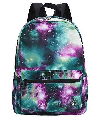 Coofit Canvas Tie Dye Galaxy Backpack Laptop Book Bag School Rucksack Coofit Blue ** Check this awesome product by going to the link at the image.