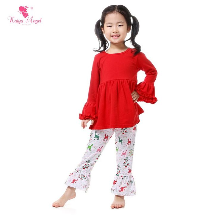 Find More Clothing Sets Information about 2016 Retail 1 Pcs Christmas Girls Clothes Kids Boutique Clothing Outfit Red Ruffle Sleeve Dress Icing Ruffle Reindeer Pants Set,High Quality kids boutique clothing,China pants set Suppliers, Cheap boutique clothing from kaiya angel clothing factory on Aliexpress.com