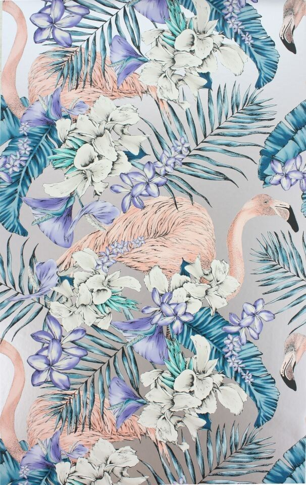 Osborne & Little - Matthew Williamson - Flamingo Club Wallpaper 10m Roll - Wallpaper - All - Wallpaper & Decor
