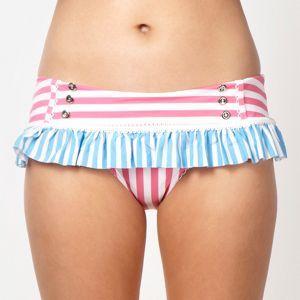 Floozie by Frost French Designer pink stripe patterned wide bikini bottoms- at Debenhams Mobile