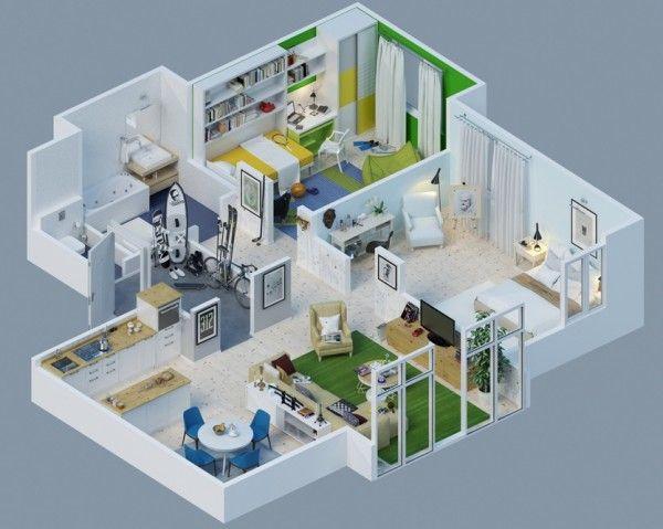 Awesome 3D Plans For Apartmentshttp://platinum.harcourts.co.za/Profile/Dino-Venturino/15705 dino.venturino@harcourts.co.za