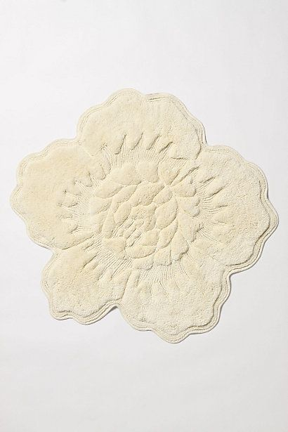 Castile Rose Bathmat #anthropologie. Pair white and ivory together for bathroom, if Lok will allow floral bathmats :)