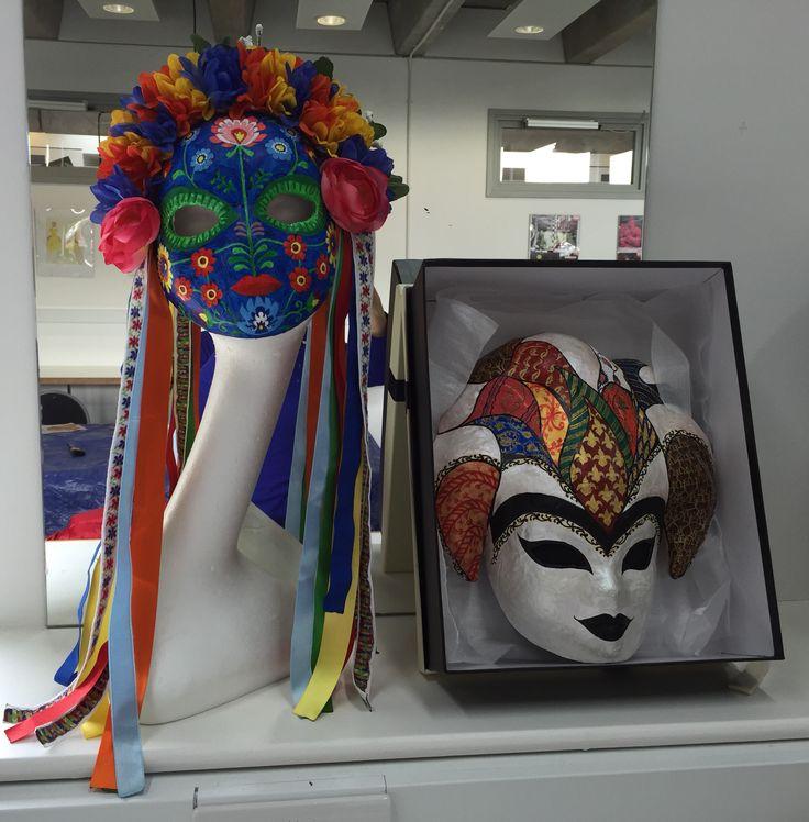 Bohemian and Italian mask design by Bilge Avci