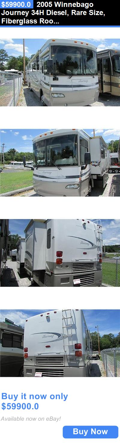 rvs: 2005 Winnebago Journey 34H Diesel, Rare Size, Fiberglass Roof , Video BUY IT NOW ONLY: $59900.0