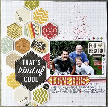 Layout: Simple Stories - 24/Seven - Hexagons