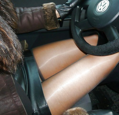 Pantyhose in the car