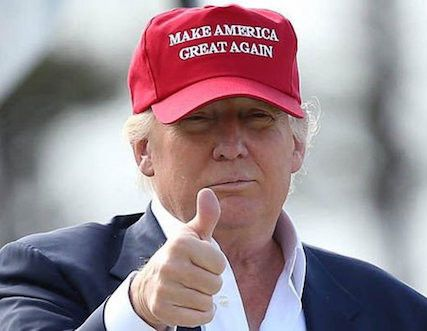 Official Campaign Gear The official hat of the Donald Trump 2016 Presidential Campaign. Show your support of Donald Trump by sporting the same embroidered, rope hat as the GOP Nominee himself. * Free