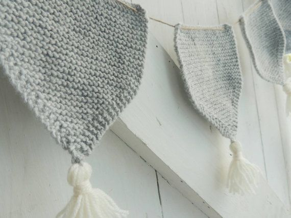 Check out this item in my Etsy shop https://www.etsy.com/uk/listing/253553244/grey-knitted-bunting-with-cream-tassles