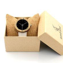 2017 37mm BOBO BIRD Watches Women Natural Wood Watch Genuine Leather Strap Ladies Wristwatches relogio feminino B-J02(China (Mainland))