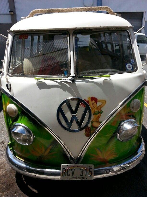 VW van Honolulu Hawaii