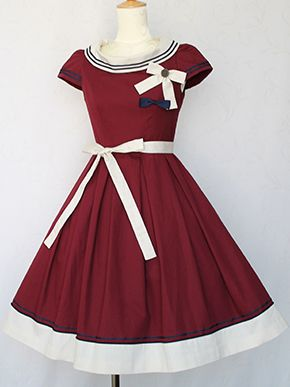 french marine boat neck dress by Victorian maiden