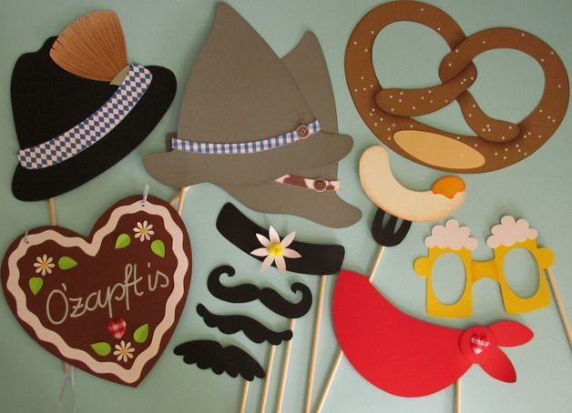 Really cute Oktoberfest photo booth props. Love the Weisswurst (white sausage to…