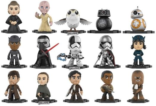 FUNKO Mystery Minis Star Wars Ep 8 The Last Jedi GS Exclusive