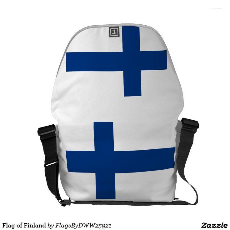Flagge von Finnland Kurier Taschen