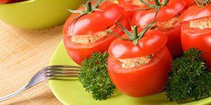 Lentil-Stuffed Tomatoes   Canadian Diabetes Association