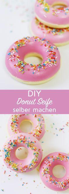Seife selber machen in Donut Form: Originelle DIY Geschenkidee
